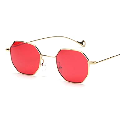 7f88a62bd5 Image Unavailable. Image not available for. Color  blue yellow red tinted  sunglasses women small frame polygon vintage sun glasses for men retro