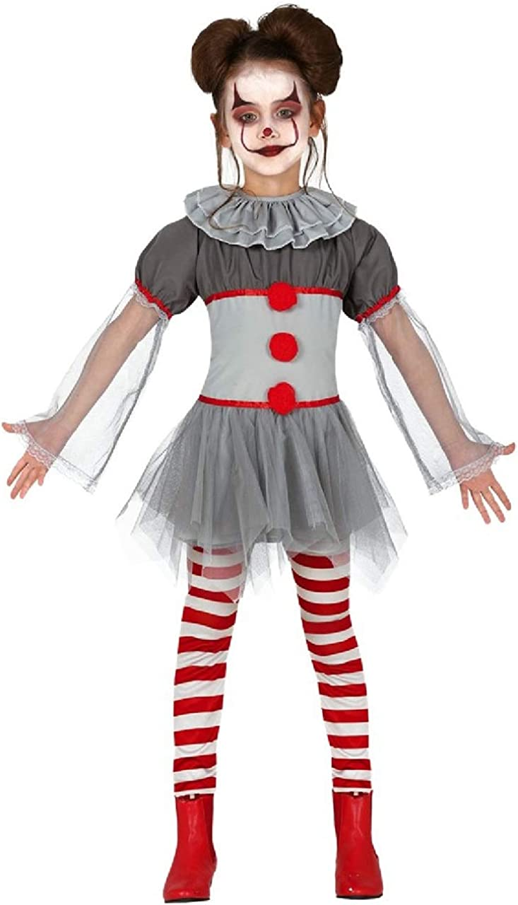 Clown Halloween Costumes For Girls.Amazon Com Girls Bad Horror Clown Scary Creepy Halloween Film Fancy Dress Costume Outfit 3 12 Years Clothing