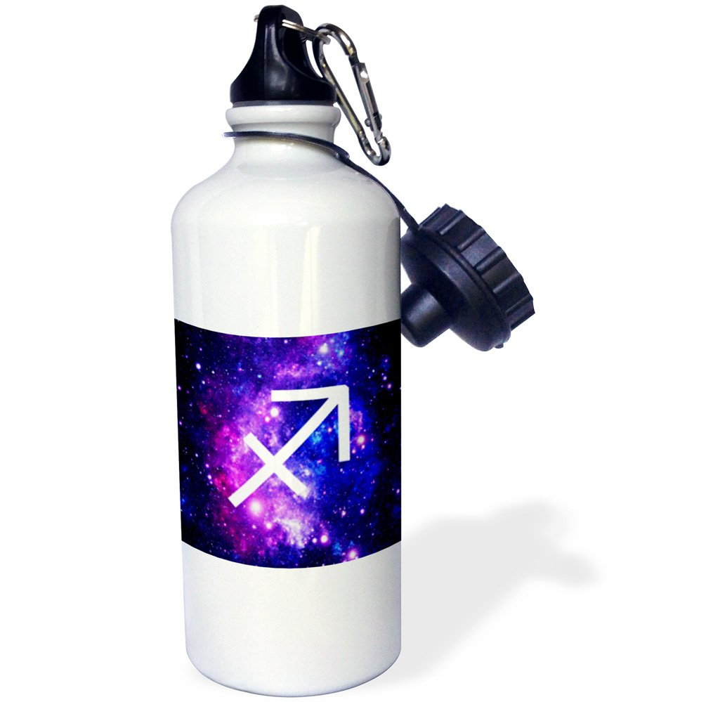 wb/_202175/_1 3dRose Sagittarius Star Sign on Purple Space Background-Horoscope Symbol-Sports Water Bottle 21oz Multicolored