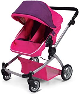 Amazon.com: Babyboo Deluxe Twin Doll Pram/Stroller with Free ...