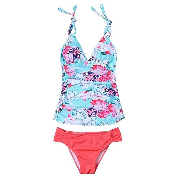 PinkLu Bikinis premamá Bikini Traje de baño Estampado de ...