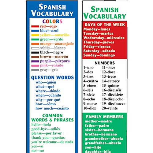 McDonald Publishing MC-K1161 Spanish Vocabulary Smart Bookmarks, 0 3