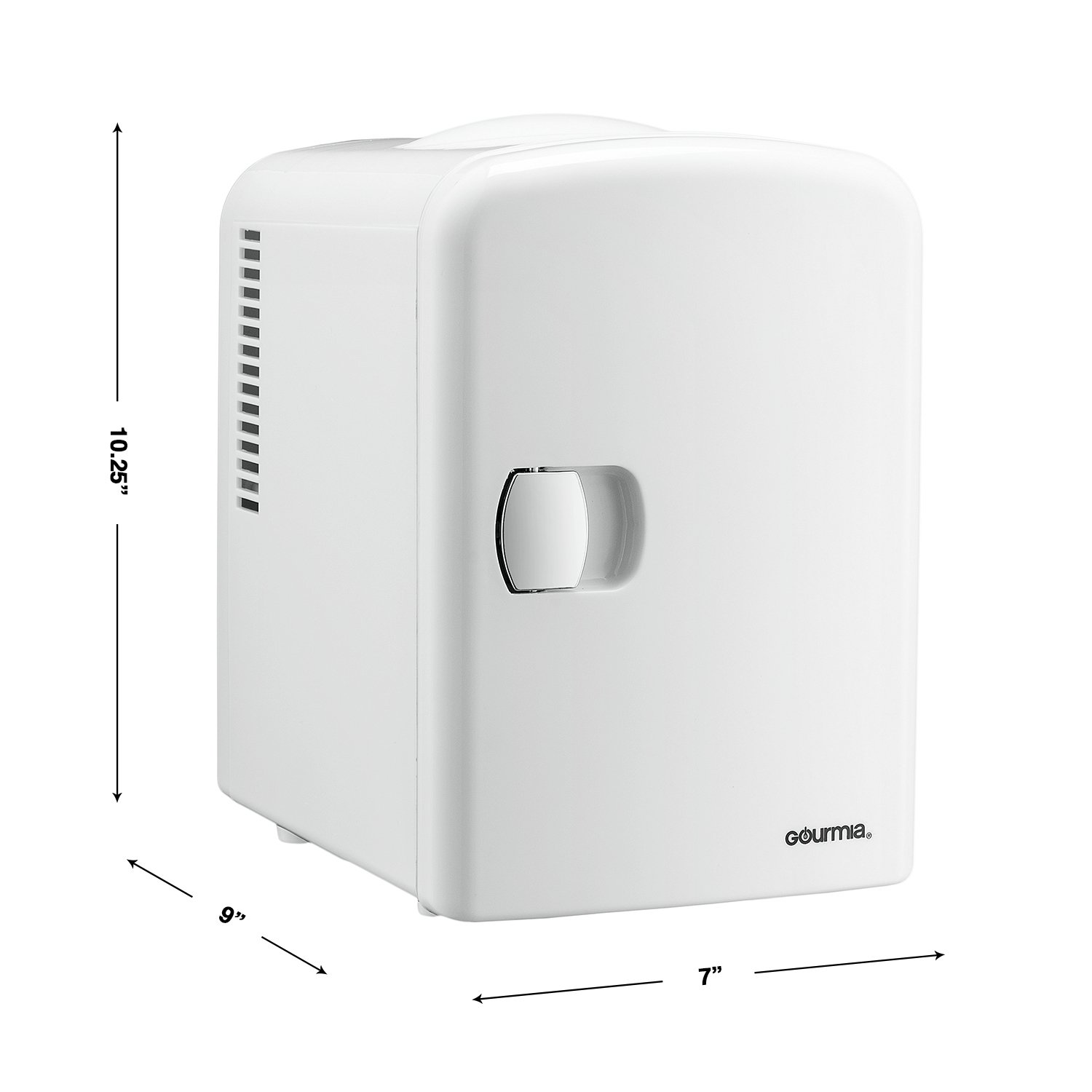 Gourmia GMF600 Thermoelectric Mini Fridge Cooler and Warmer - 4 Liter/6 Can - For Home,Office, Car, Dorm or Boat - Compact & Portable - AC & DC Power Cords - White by Gourmia (Image #9)