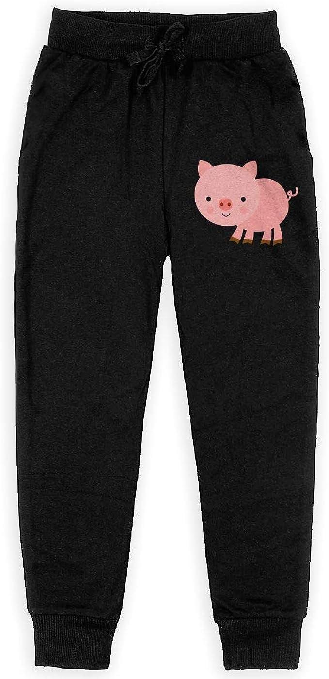 Pink Pig Kids Sweatpants Cute Jogger Pants Active Pants Cotton Pants 2-6T