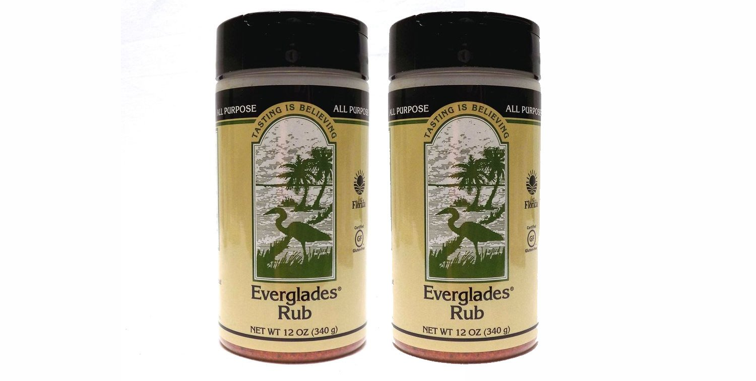 2 Pack Everglades Seasoning All Purpose Rub 2-12 Ounce Cans