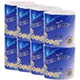Rokment 8 Rolls Toilet Paper, Ultra Soft Hollow Replacement Roll Paper Print Interesting Toilet Paper Table Kitchen Paper 3 layers