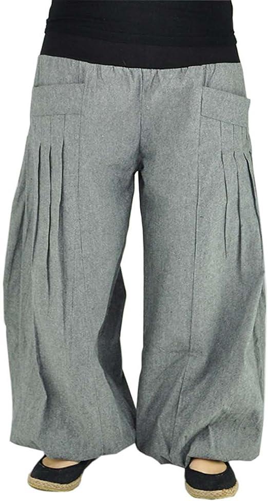 virblatt Pantalones Yoga Unisex Hechos de algodón Cómodo de Usar. Pantalones Yoga Yogazeit Grey/Black: Amazon.es: Ropa y accesorios