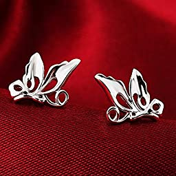 Acxico Little Cute Hollow out Butterfly Stud Earrings