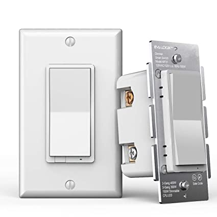 3-Way Smart WiFi Dimmer Light Switch, in-Wall, No Hub Required, Compatible on