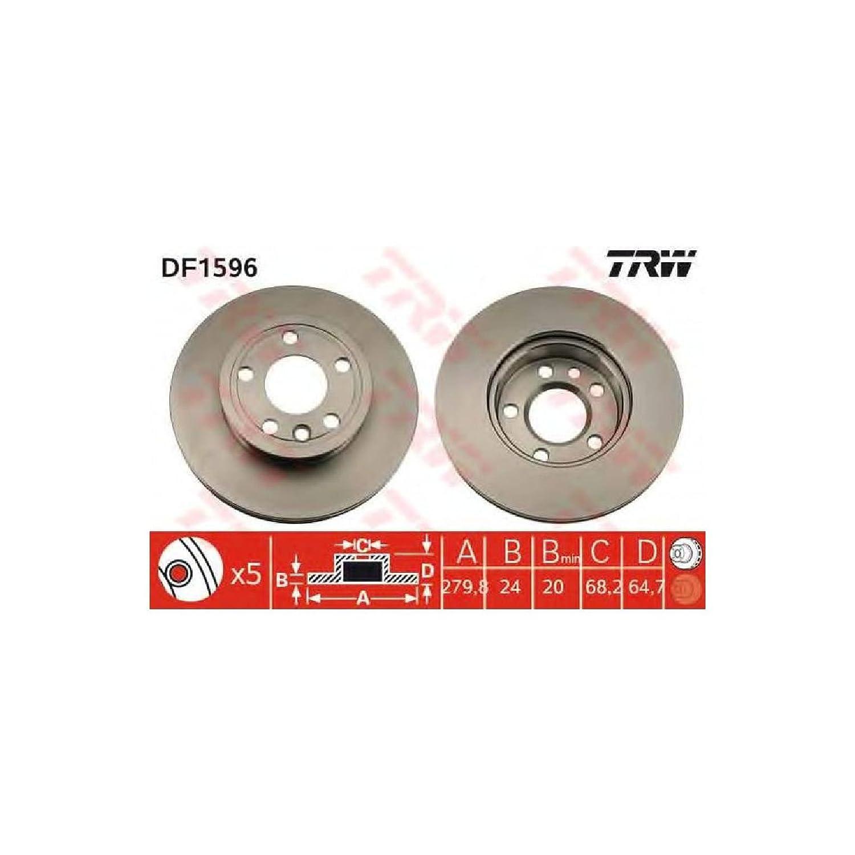 TRW DF1596 Rotores de Discos de Frenos