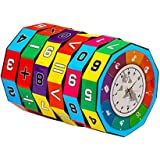 Sunsoar Plastic Digital Magic Cube Cylinder Math Calculation Training Toy for Child Birthday Chriamas New Year Gift Puzzle Education Learning (B)