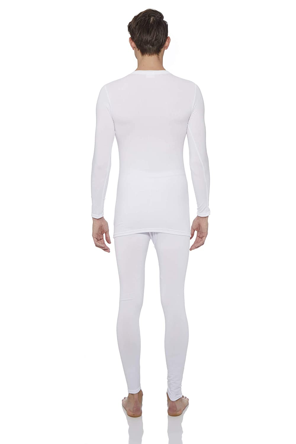 ROCKY Thermal Underwear for Men Fleece Lined Thermals Mens Base Layer Long John Set White
