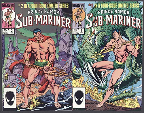 Prince Namor The Submariner #1-4 Complete Set Full Run Marvel Comics 1984 CBX1F