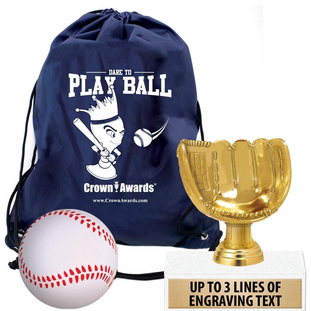 Crown Awards野球グッディーバッグ 野球テーマのパーティー用品 6インチの野球グローブ キッズ野球トロフィー スクイッシュボール 野球用引き紐付き プライム 10 AZ-PFBBGL10PR B07MRBG17F  10