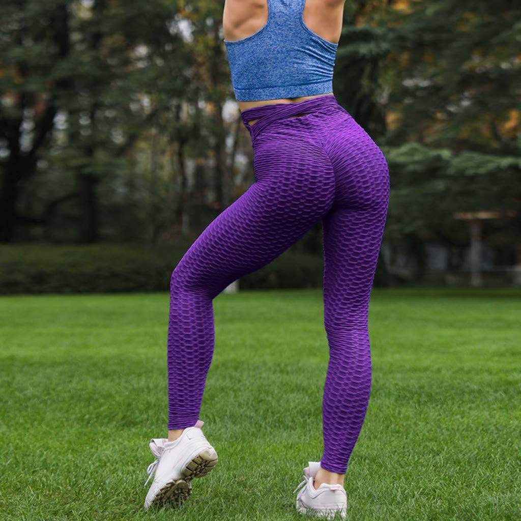 ZOMUSAR 2019 ❀ Women High Waist Yoga Fold Cross Strap Leggings Running Sports Pants Trouser