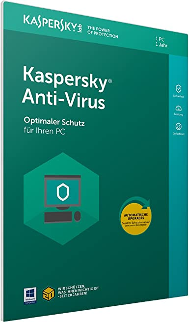 Kaspersky Lab Anti-Virus 2018 Full license 1 licencia(s) Alemán - Seguridad y antivirus (1 licencia(s), Full license, Soporte físico): Amazon.es: Software