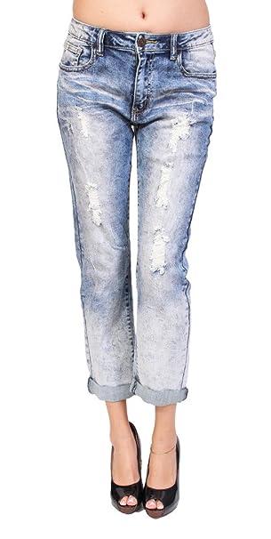 Amazon.com: Máquina Jeans mujer Distressed Acid Wash ...