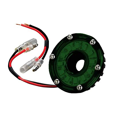 "KC HiLiTES 1355 Cyclone LED 5W 2.2"" Multi-Functional Accessory Light - Green: Automotive"