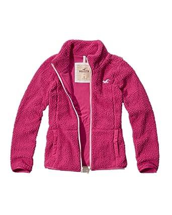 Hollister - Chaqueta - para Mujer Rosa Rosa Large: Amazon.es: Ropa y accesorios