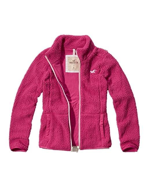 Hollister - Chaqueta - para Mujer Rosa Rosa Large: Amazon.es ...