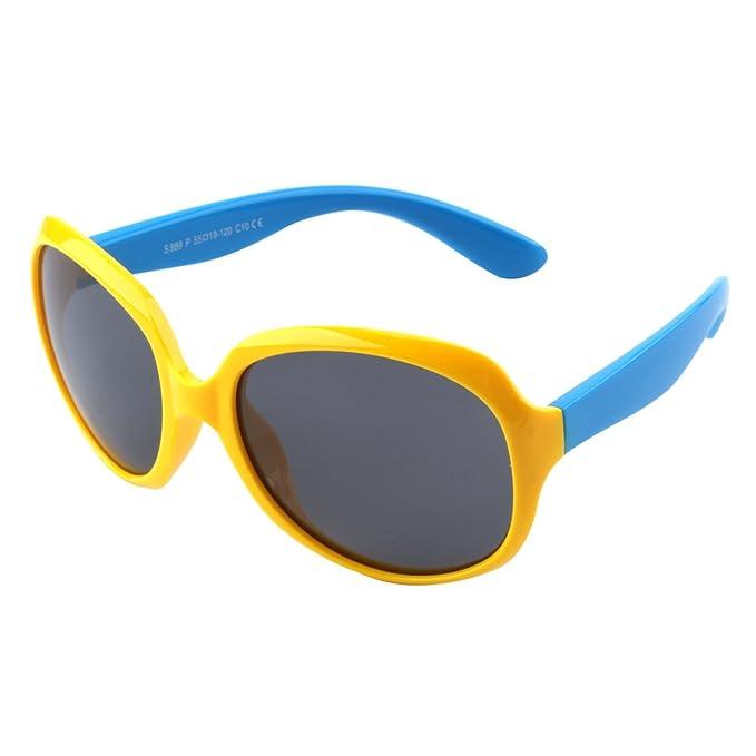 CGID gafas de sol polarizadas de goma suaves a la moda con marco flexible 100% Protección UV 400 para niños niños de 3-10 años, K89