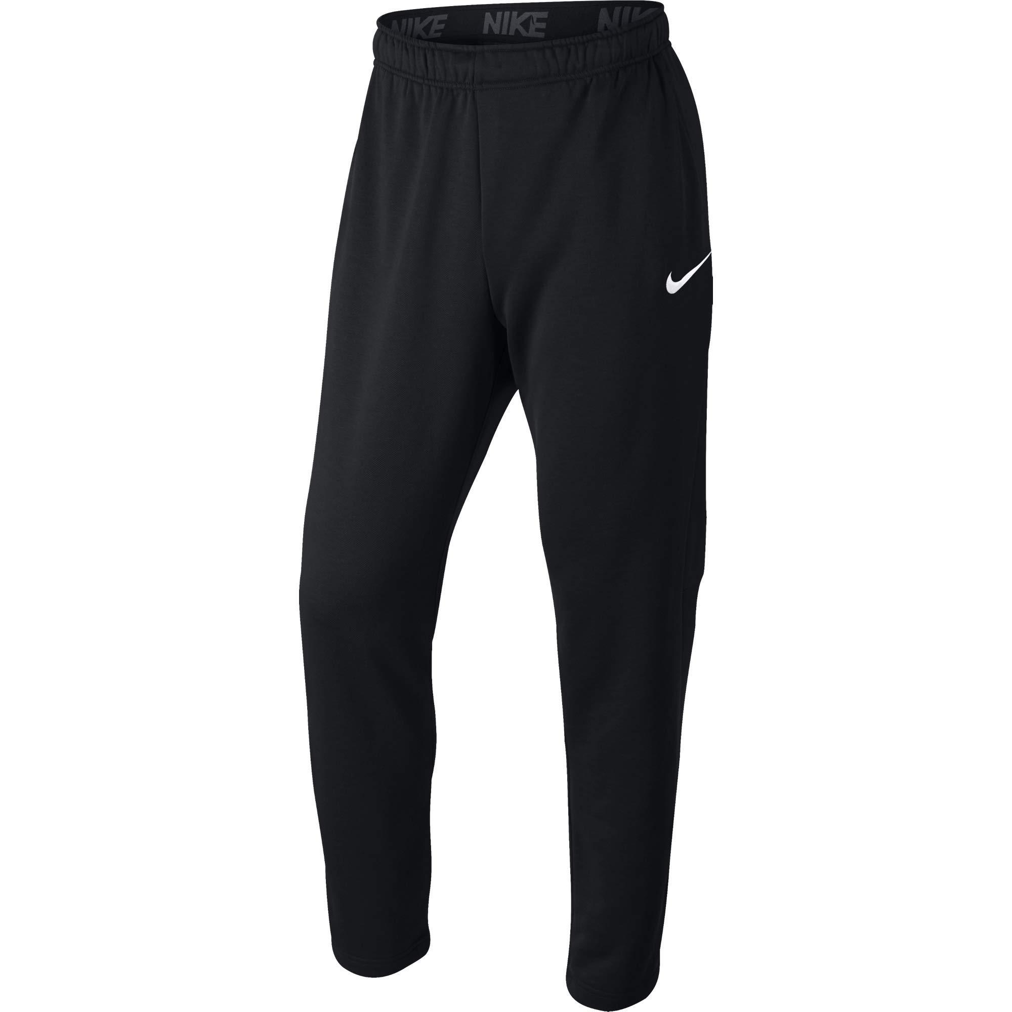 Nike Men's Dry Fleece Training Pants, Black/White, Small by Nike