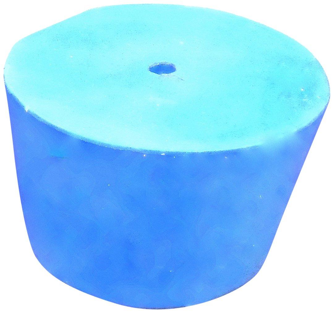 Ajax Scientific Solid Rubber Stopper with One Whole #9 Size LA530-0009