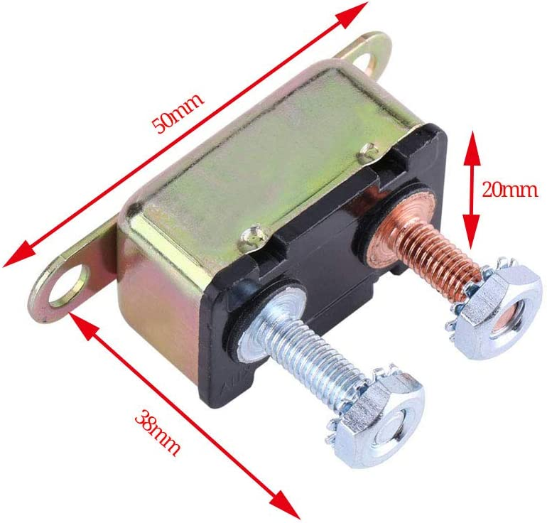 2PCS 30A Auto Reset Type 14-28V DC Overload Protector MCB Circuit Breaker A With Stud Terminals and Bracket