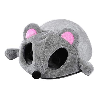 MIAOMAO Gato camada Invierno cálido Gato casa Gato Cama Cerrada Mascota Cuatro Estaciones Gato Gato Agujero