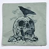 Rumas® Skull Pillow Case Sofa Waist Throw Cushion Cover Home Decor