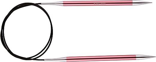 Knit Pro Zing Fija de Tejer Circulares Aluminio 80/cm x 12.00/mm