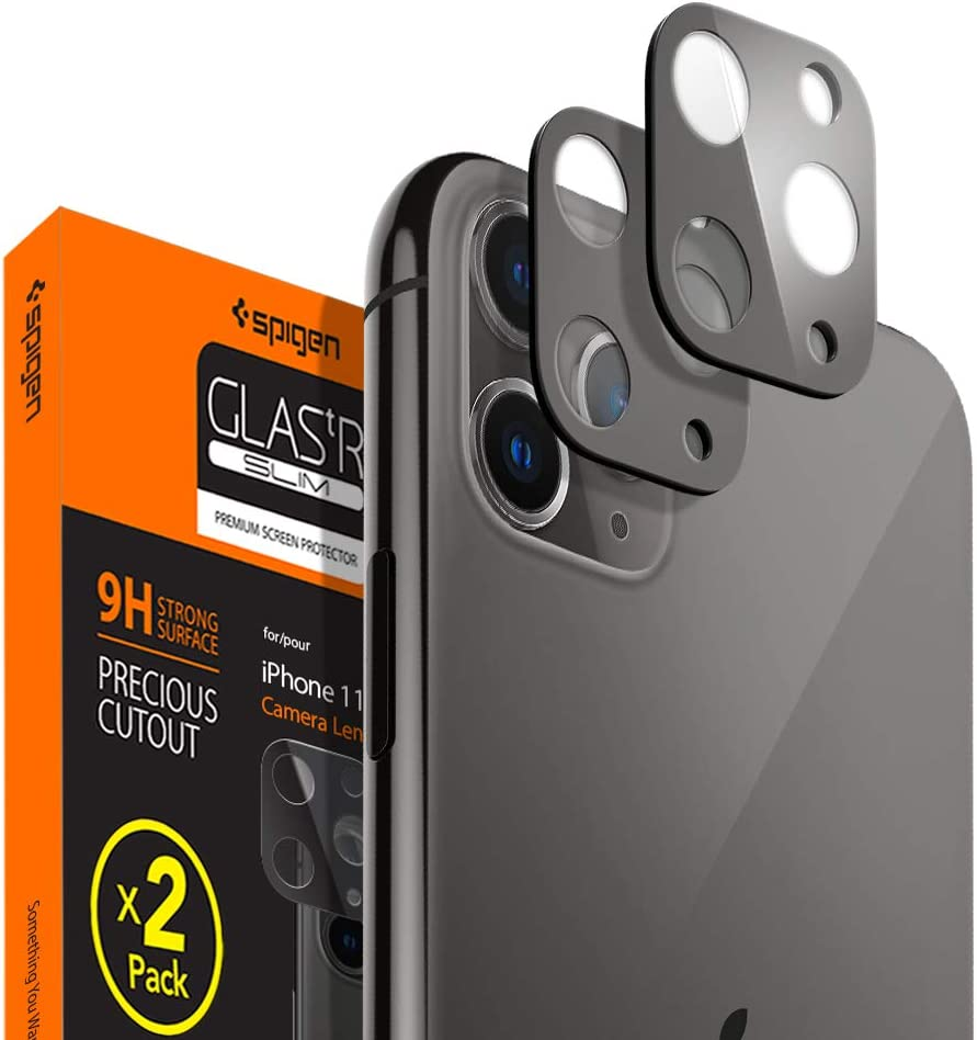 Protector Lente iPhone 11 Pro/Pro Max Gris espacial (pack2)