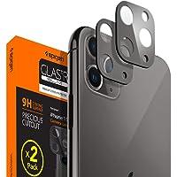 Spigen iPhone 11 Pro Max / 11 Pro Kamera Lens Cam Ekran Koruyucu Full Cover (2 Adet) Space Gray