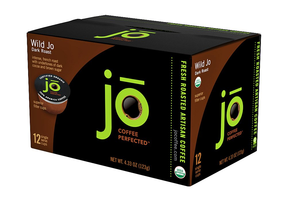 WILD JO: 72 Cup Organic Dark French Roast Single Serve Coffee for Keurig K-Cup Brewers, Bold Strong Rich Wicked Good! Keurig 1.0 & 2.0 Eco-Friendly Cup, Our Most Popular, No Additives, Non-GMO by Jo Coffee