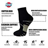 Aoliks Copper Compression Running Socks for Men