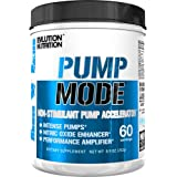 Evlution Nutrition Pump Mode Nitric Oxide Booster to Support Intense Pumps, Performance and Vascularity (Unflavored, 60 Servings)