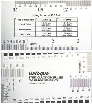 Regla de acción WINOMO cuerdas de acero inoxidable de gran calibre ...