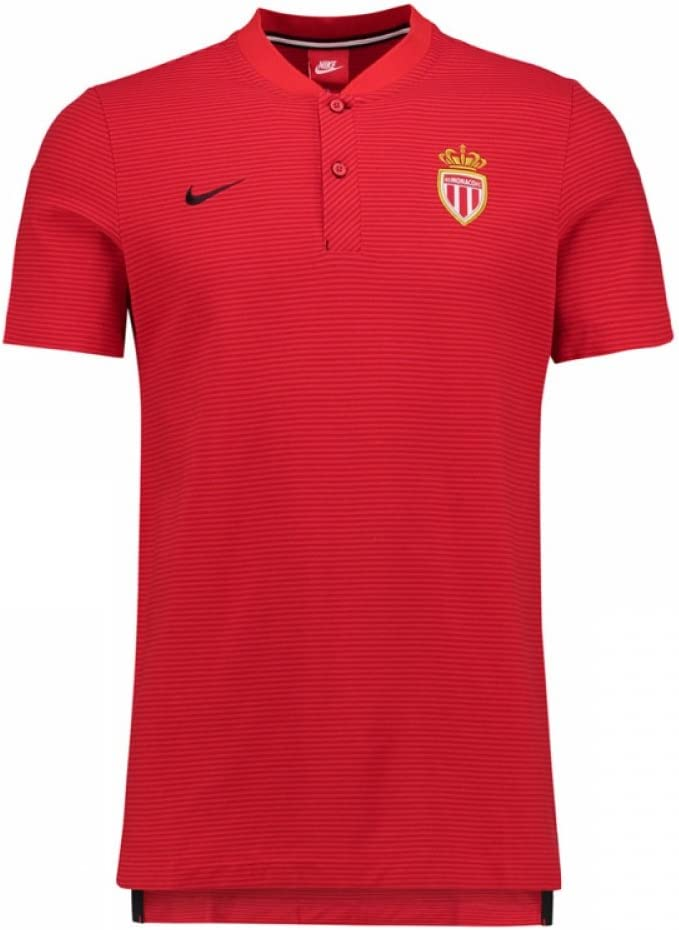 2017-2018 Monaco Nike Authentic Grand Slam Polo Shirt (Red ...