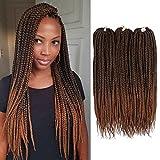 Lihui 7Pcs/lot Medium Box Braids Crochet Hair Crochet Box Braids Synthetic Hair Crochet