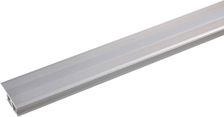 Laminat /& Parkett Alu-/Übergangsschiene,zum Klicken acerto 36945 /Übergangsprofil Aluminium 7-10mm edelstahlfarbig * Rutschhemmend * Kratzfest 90cm /Übergangsleiste f/ür Teppich-Boden 2-teilig
