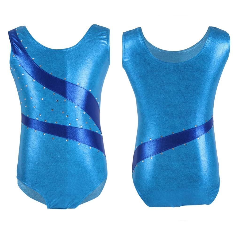 8226047509 EFINNY Girls  One-Piece Dancing Gymnastics Athletic Camisole Leotard larger  image