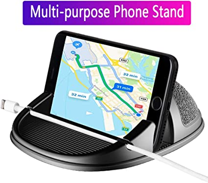 Car Mount, Car Phone Mount Silicone Car Pad Mat for Various Dashboards, Anti-Slip Desk Phone Stand Compatible with iPhone, Samsung, Android ...