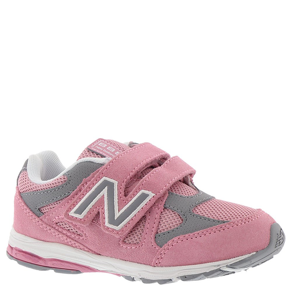 1acdbadd17c9e Galleon - New Balance Girls' 888v1 Hook And Loop Running Shoe, Pink/Steel,  7 W US Toddler