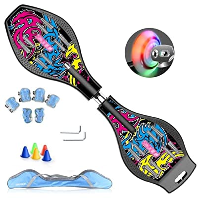 WWZL Caster Board Skateboards Swim Dragon Ripstik Children Vitality Board /87cm : Sports & Outdoors