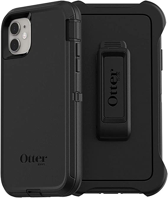 OtterBox DEFENDER SERIES SCREENLESS EDITION Case for iPhone 11 - Bulk Single-pack (1 unit) - BLACK