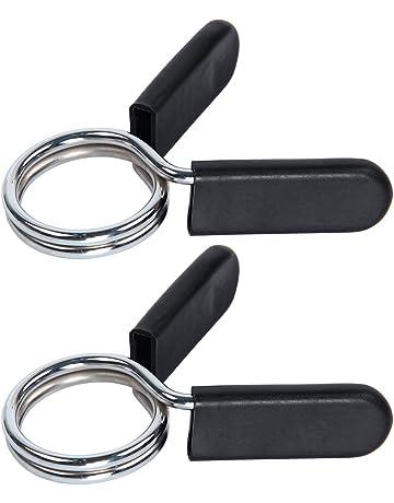 Latinaric Pinzas para sujetar los discos a las barras, bloqueadores para pesas, abrazaderas para