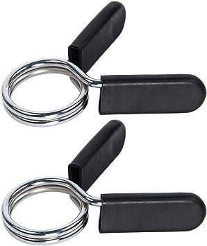 Ledeak Collares de Resorte Abrazaderas Pinza de Resorte Clips de Cuello Barra de Pesas para Gimnasio Fitness Entrenamiento Levantamiento de Pesas 1 par Abrazaderas para Mancuernas