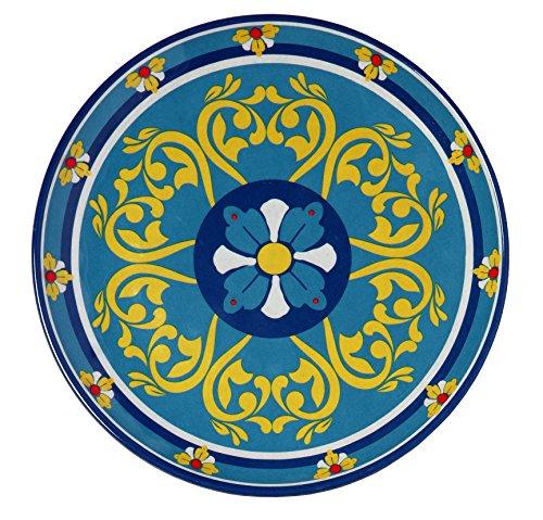 Melange 6-Piece 100% Melamine Salad Plate Set (Tivoli Collection) | Shatter-Proof and Chip-Resistant Melamine Salad ()