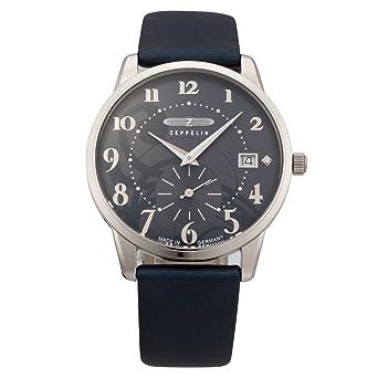 Zeppelin Watches - Reloj analógico de cuarzo para mujer con correa de piel, color negro: Amazon.es: Relojes