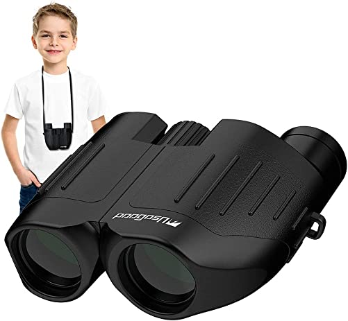 Usogood 10×25 Compact Binoculars for Adults Kids Folding Binoculars with Low Light Night Vision Best Gift Choice for Bird Watching, Outdoor Hunting, Wildlife Monitoring,Traveling, Sightseeing